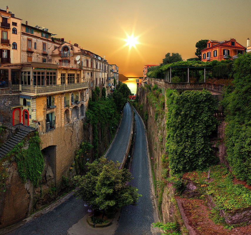 Road to the Sea, Sorrento, Italy