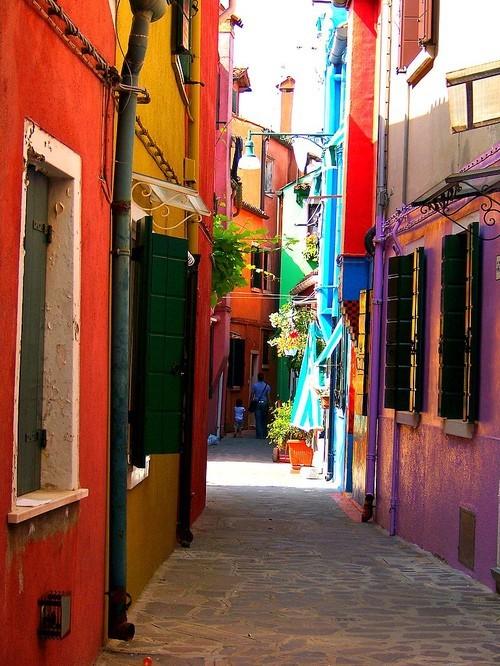 Narrow Streets, Burano, Italy