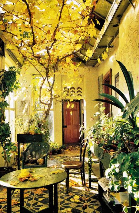 Autumn Sun Porch, Greece