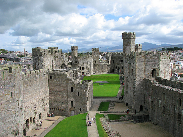 Caernarfon Castle is a medieval building in Gwynedd, north-west Wales.The Edwardian town and castle acted as the administrative centre of north Wales and as a result the...