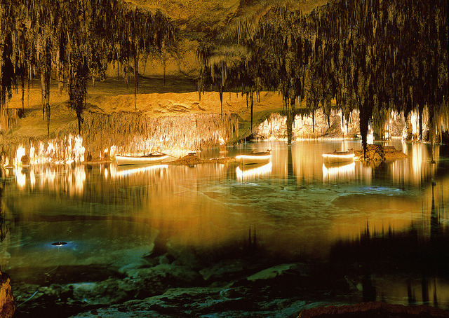 Cuevas del Drach are four great caves that are located in the island of Majorca, Balearic Islands, Spain.
