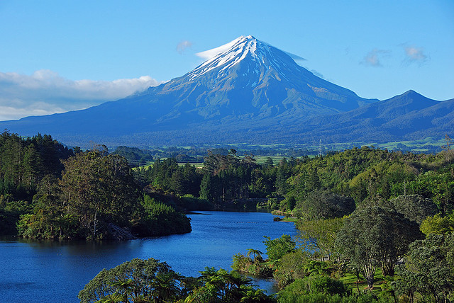 Mount Taranaki, or Mount Egmont, is an active but quiescent stratovolcano on the west coast of New Zealand's North Island. The 2518-metre-high mountain is one of the most...
