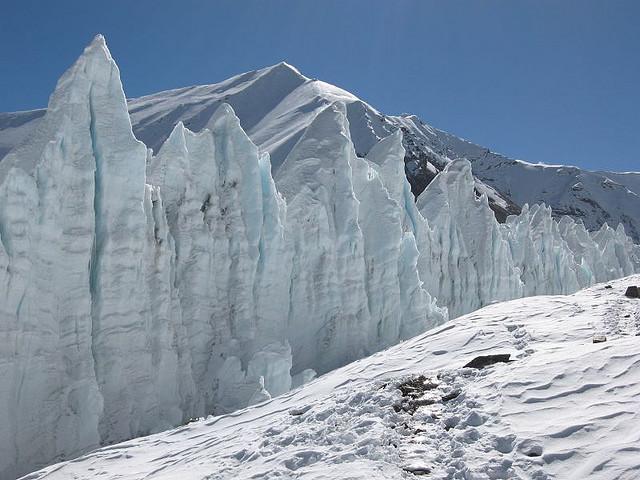 At the footsteps of Everest - East Rongbuk Glacier, Tibet.