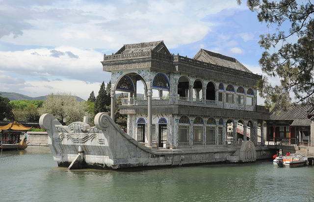 by KQN Images on Flickr.The marble boat house at Beijing Summer Palace, China.