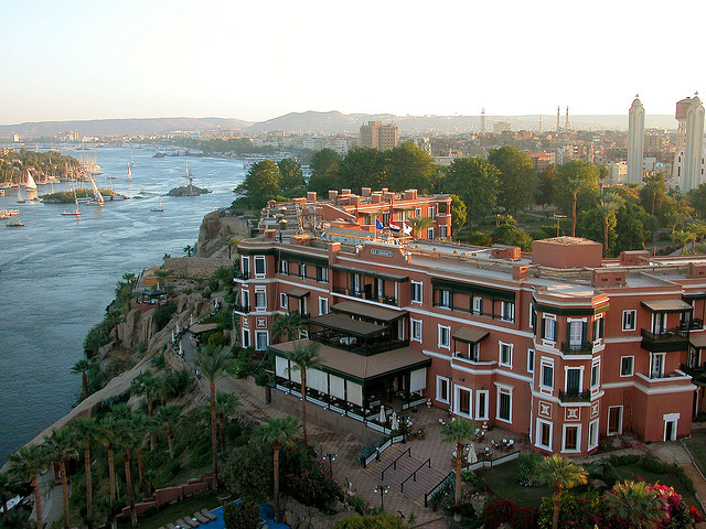 by smacss on Flickr.The city of Aswan in southern Egypt - stands on the east bank of the Nile at the first cataract and is a busy market and tourist centre.
