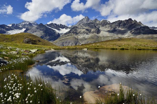 by pierre hanquin on Flickr.View towards Obergabelhorn 4063m - Zermatt, Swiss Alps.