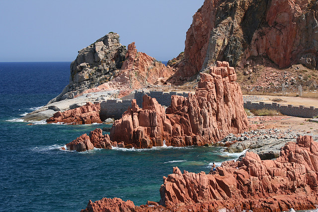 by pinobarile on Flickr.Arbatax red rocks - Sardinia, Italy.