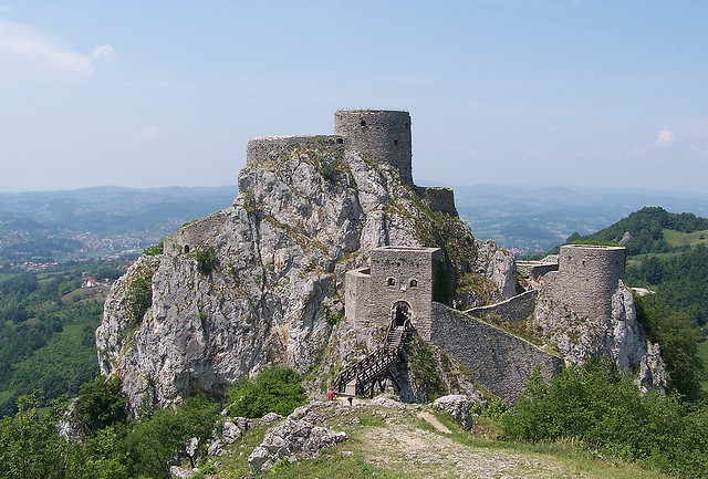 by j.caluk on Flickr.Old fortress above the small town of Srebrenik in north-eastern Bosnia.