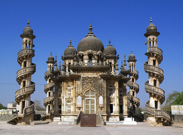 by indianhilbilly on Flickr.Mahabat Maqbara, a fine mausoleum in Junagadh - Gujarat, India.