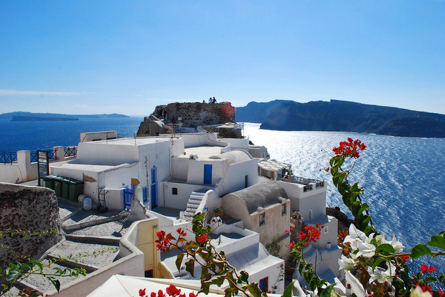 by Jeka World Photography on Flickr.Oia is a former community on the islands of Thira  and Therasia, in the Cyclades, Greece.