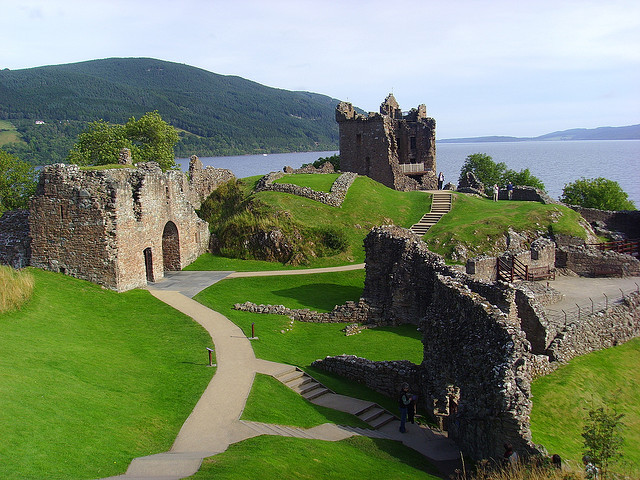by 3B_Graphix on Flickr.Urquhart Castle was in its day one of the largest strongholds of medieval Scotland, splendidly situated on a headland overlooking Loch Ness. It is also near this castle that...