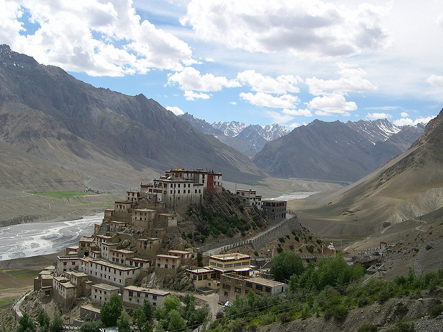 by danidavis5 on Flickr.Key Gompa is a Tibetan Buddhist monastery located on top of a hill at an altitude of 4166 m above sea level in Himachal Pradesh, India.