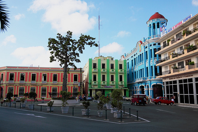 by Robin Thom on Flickr.Plaza de los Trabajadores, Camaguey, Cuba.