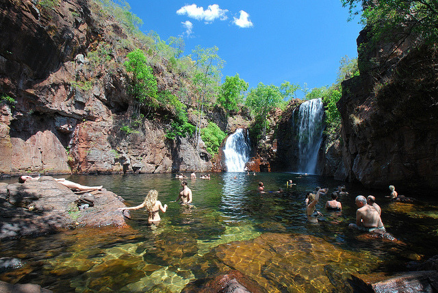 by stephenk1977 on Flickr.Swimming at Florence Falls in Litchfield National Park, Australia.