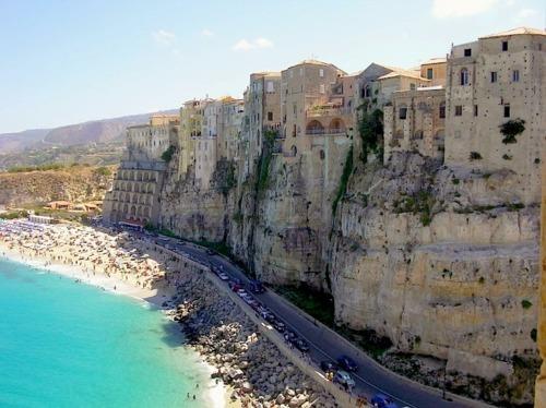 Cliffside Beach, Tropea, Italy