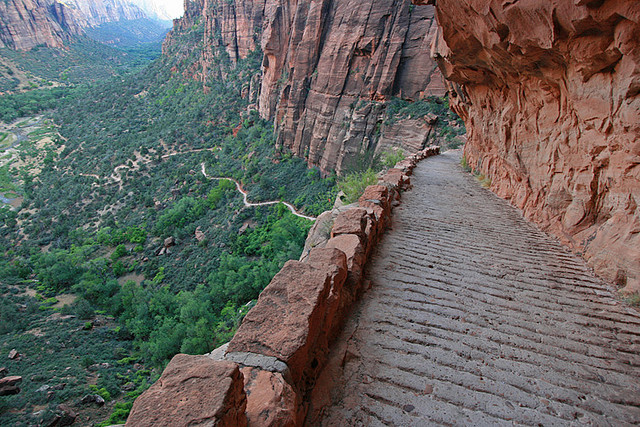 by russ david on Flickr.Angels Landing hike in Zion National Park, USA.