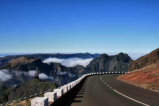 by Made in Madeira on Flickr.Mountain roads in central Madeira Island, Portugal.