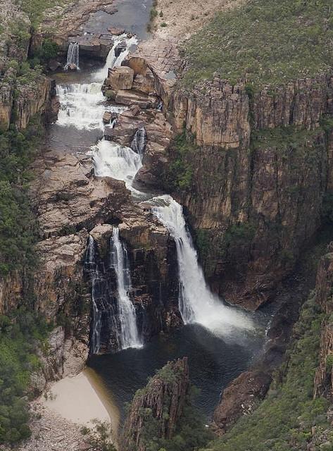 by jonclark2000 on Flickr.Twin Falls from the scenic flight over Kakadu National Park, Australia.