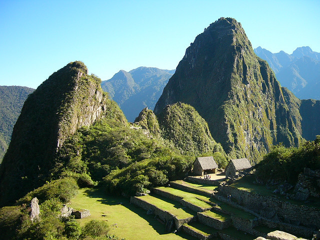 Early morning view from Machu Picchu, Peru