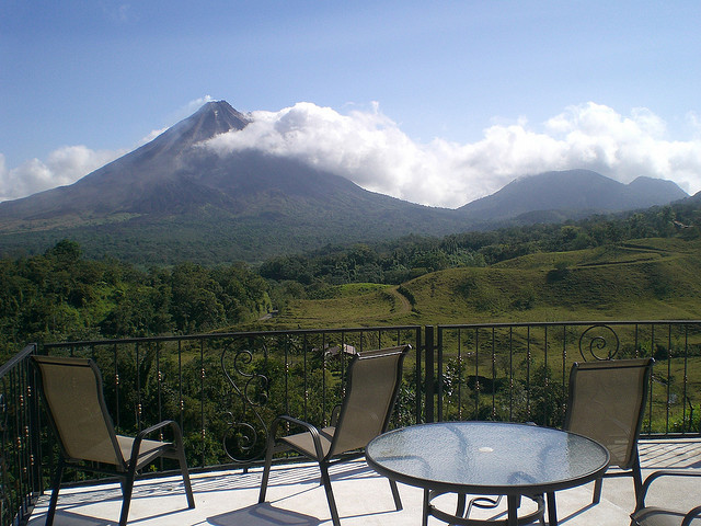 View of Arenal Volcano from Linda Vista Lodge, Costa Rica