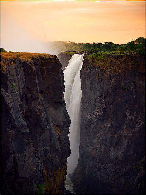 Glimpse of a natural wonder, Victoria Falls, Zimbabwe