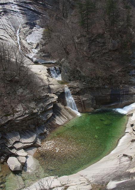 Waterfall in Kumgangsan Mountains, North Korea