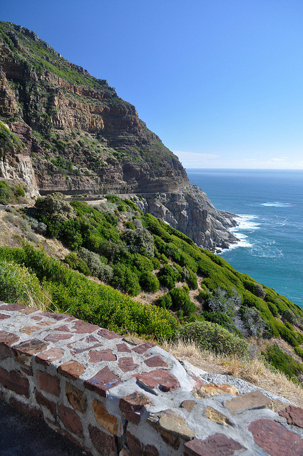 Chapman's Peak Drive on the coast south of Hout Bay in South Africa