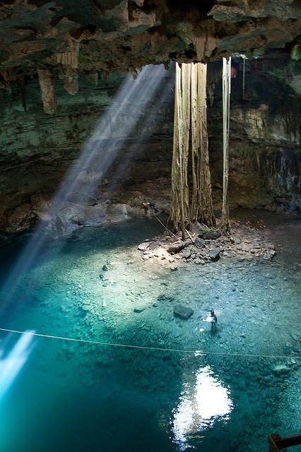 Beautiful pool of Cenote Samula, Yucatan Peninsula, Mexico