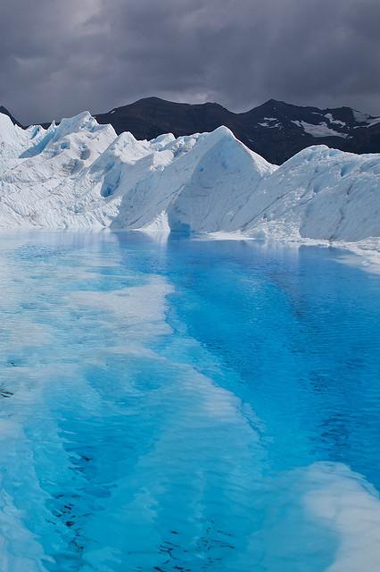 Blue Lagoon on Perito Moreno Glacier, Patagonia, Argentina