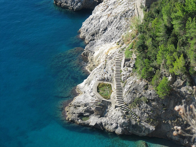 Stairs on Amalfi Coast, Campania, Italy