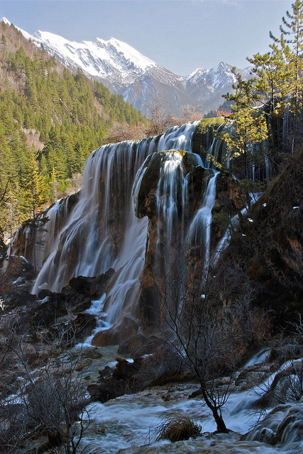 Pearl Shoal Waterfall at Jiuzhaigou, Sichuan, China