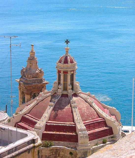A view from Santa Barbara bastions in La Valletta, Malta