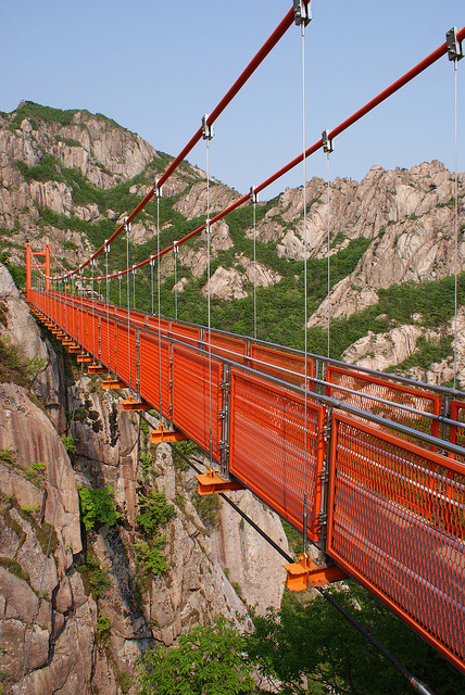 Cloud bridge in Wolchulsan National Park, South Korea