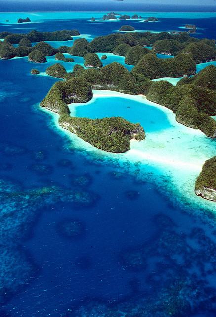 The Rock Islands in Palau, Micronesia