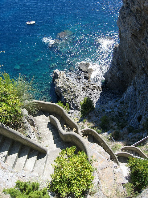 Going down to the beach, Costa Amalfitana, Italy