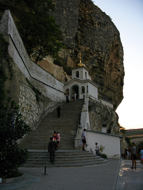 Uspensky Cave Monastery at Chufut-Kale, Crimea, Ukraine
