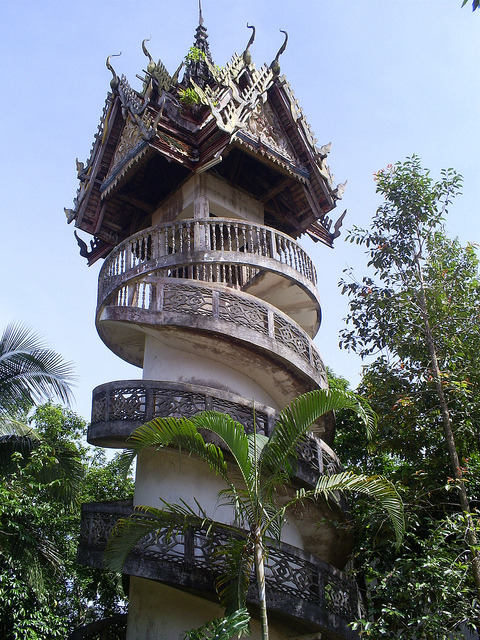 Suspended temple in Sangkhlaburi Province, Thailand
