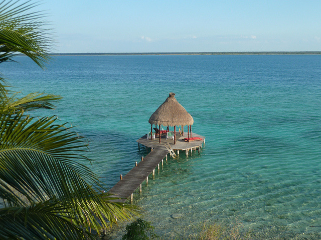 Lake of the seven colours, Laguna Bacalar, Mexico