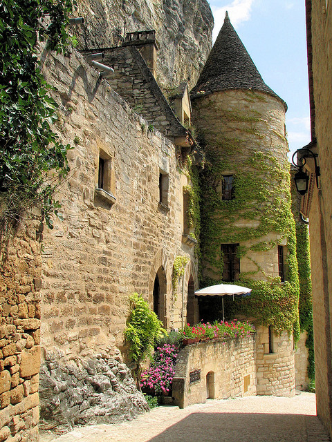 Medieval streets of La Roque Gageac, Aquitaine, France