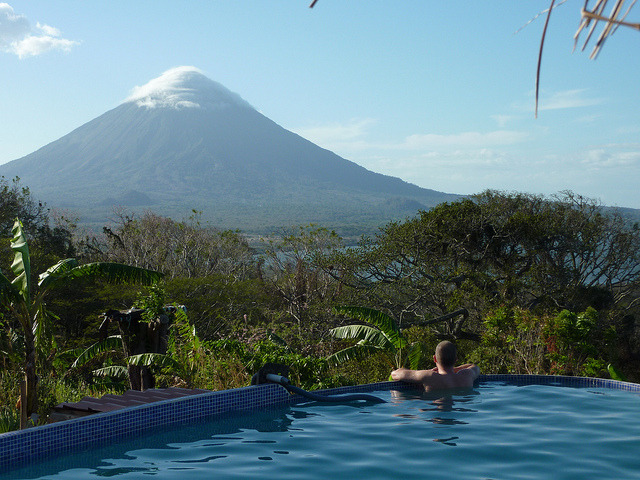 Enjoying the view from Totoco Eco Lodge, Ometepe Island, Nicaragua