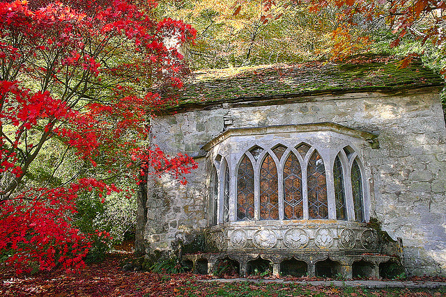 The Gothic Cottage in Stourhead, Wiltshire, England