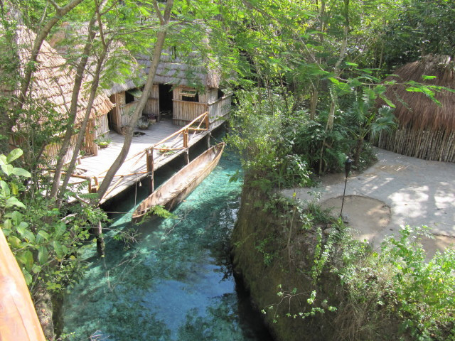 Mayan village in Xcaret, Yucatan Peninsula, Mexico