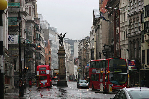 Rainy Day, London, England