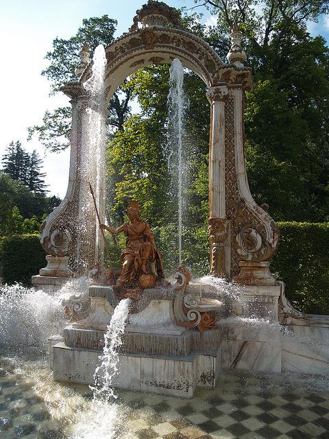 Minerva Fountain in La Granja de San Ildefonso, Spain
