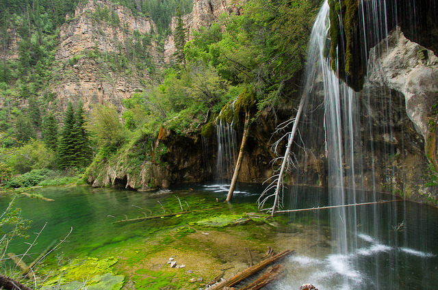Waterfalls at Hanging Lake in Glenwood Canyon, Colorado, USA