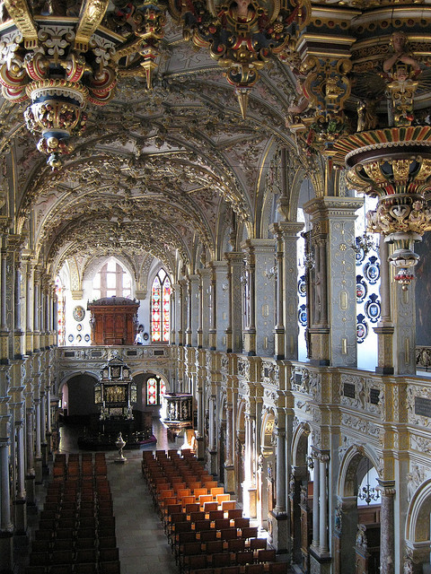 The impressive baroque chapel at Frederiksborg Castle, Denmark