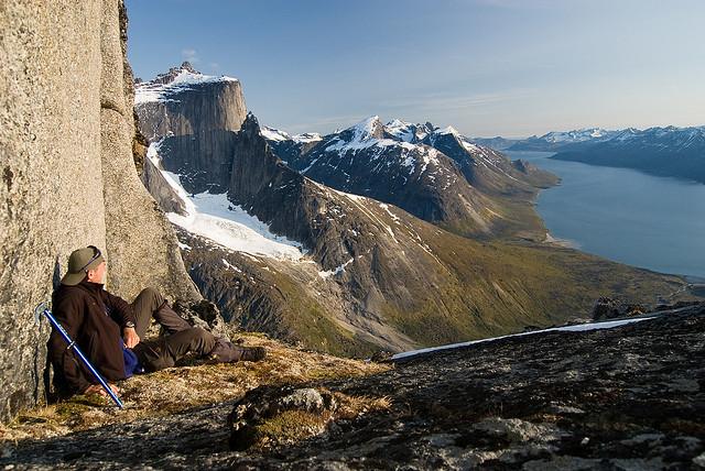 Resting moment in Tasermiut fjord, Greenland