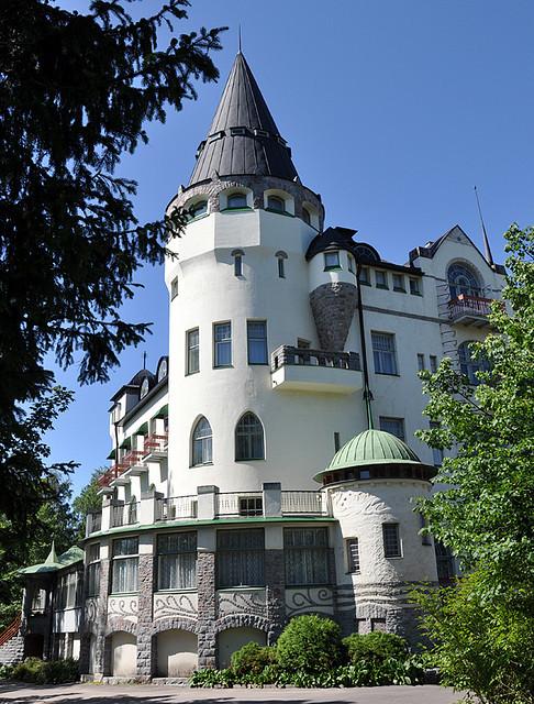 Valtionhotelli art-nouveau castle, present day hotel in Imatra, Finland