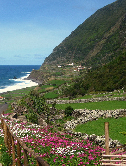 West coast of Flores Island, Azores, Portugal