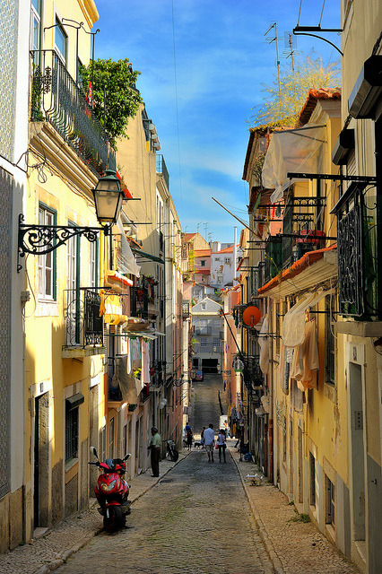 Streets of Bairro Alto in Lisbon, Portugal . This one is for Ottavia :)